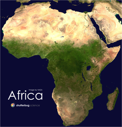 Shutterbug Science Africa Floor Puzzle Completed